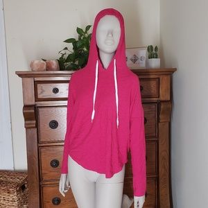 OLD NAVY Women's Pink Hooded Long Sleeve Pullover